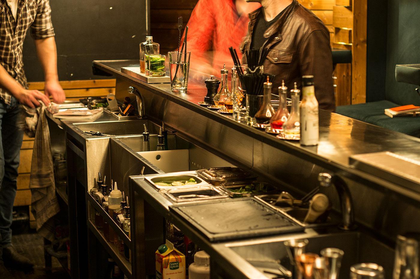 Bar inox for Plan de travail bar