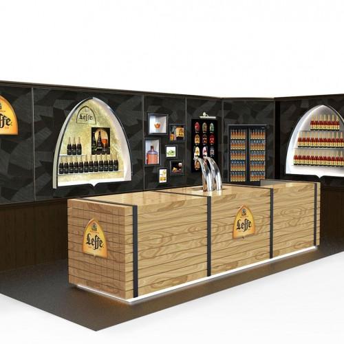 Creation de stand pour la marque de bière Leffe