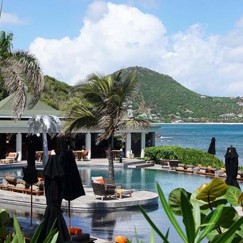 vue de l'Hotel Christopher st barthélemy