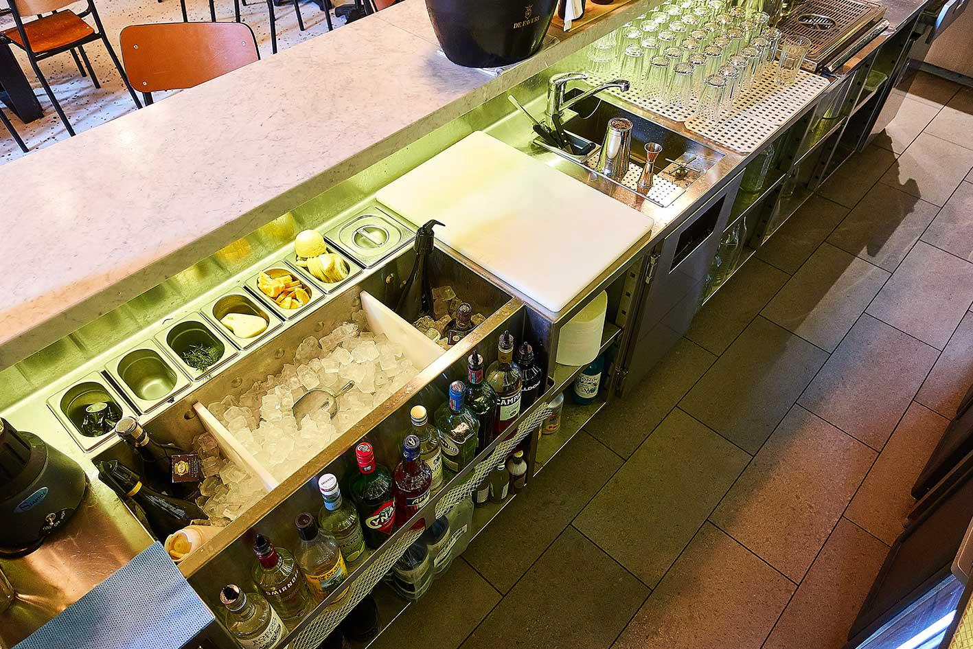 Station cocktail de l'établissement Roberta Bercy